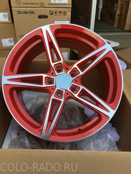 Колесный диск Powcan bk5233 8x18/5x114.3 d73.1 et38 Ferrari red/polished face
